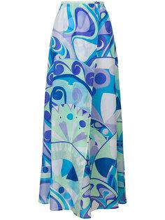 длинная юбка с абстрактным принтом  Emilio Pucci