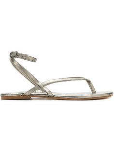 сандалии с эффектом металлик Mara Mac