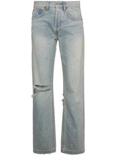 """прямые джинсы модели """"оверсайз"""" с рваным эффектом Re/Done"""