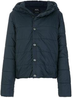 классическая стеганая куртка A.P.C.