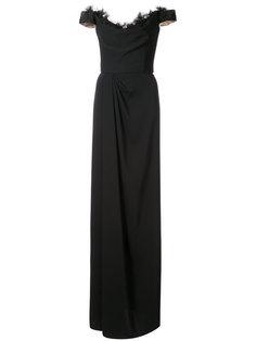 платье макси с открытыми плечами Marchesa Notte
