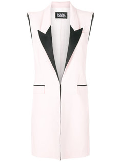 пиджак средней длины без рукавов Karl Lagerfeld