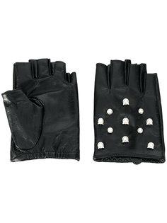 перчатки Karl Cat с жемчугом Karl Lagerfeld