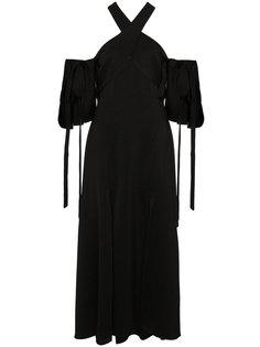 платье миди с вырезом-халтер Ellery