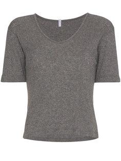 футболка с V-образным вырезом в рубчик Lot78