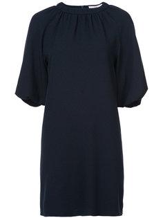платье с присборенным воротом  Tibi