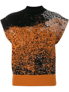 пестрый свитер без рукавов Vejas