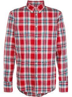 plaid fitted shirt Dsquared2