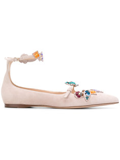 балетки с цветочной вышивкой Valentino