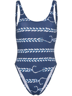слитный купальник с веревочным узором Belusso