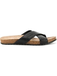 сандалии с перекрещивающимися ремешками Dsquared2