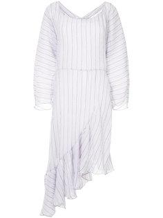 асимметричное платье с мятым эффектом Christopher Esber