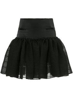 мини-юбка со сборкой Christopher Esber