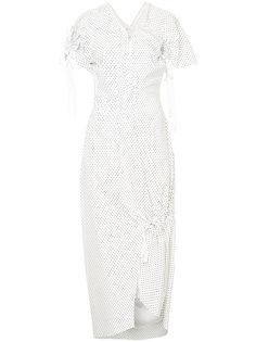 платье в мелкий горошек Christopher Esber