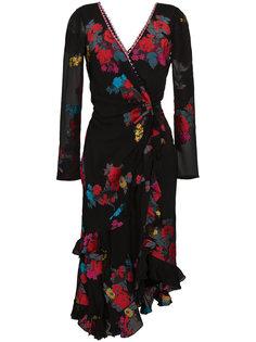 платье с запахом и глубоким V-образным вырезом Etro