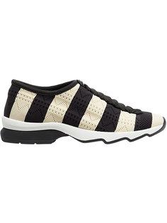 полосатые кроссовки без застежки Fendi