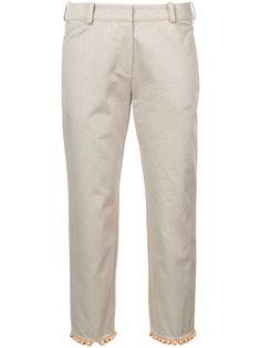укороченные брюки с бисерной отделкой  Rosie Assoulin