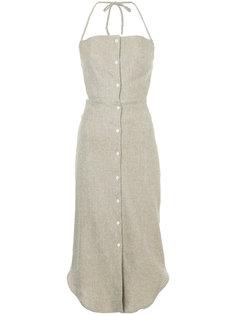 платье с вырезом-петлей халтер на пуговицах Christopher Esber