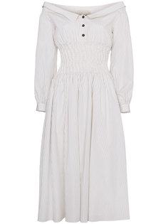 платье с открытыми плечами  Sandy Liang