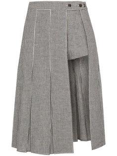 юбка-шорты в клетку Uniform Sandy Liang