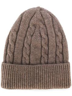 вязаная кашемировая шапка Delloglio