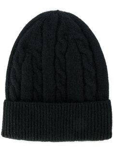 кашемировая шапка вязки косичкой Delloglio