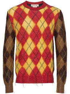 свитер с ромбовидным узором Marni
