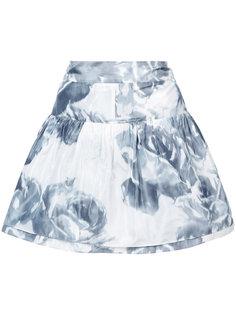 юбка с принтом роз Marchesa