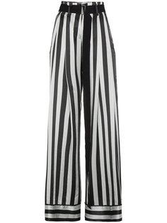 полосатые широкие брюки  Ann Demeulemeester