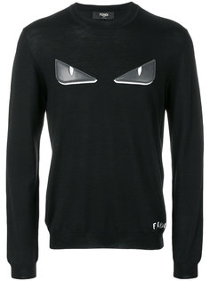 пуловер с аппликацией Bag Bugs Fendi
