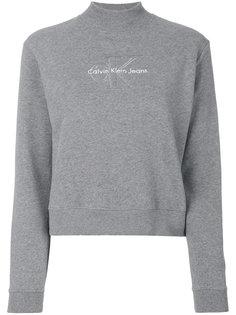 толстовка с вышивкой логотипа Calvin Klein