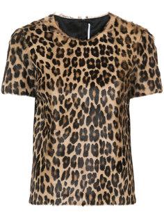 футболка с леопардовым принтом  Rosetta Getty