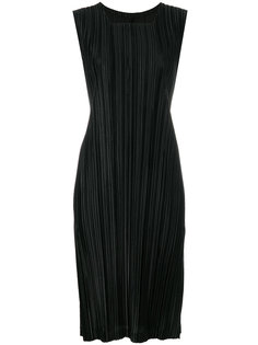 приталенное плиссированное платье  Pleats Please By Issey Miyake