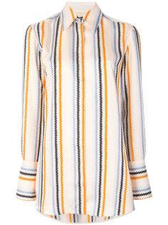 рубашка с зигзагообразным узором Victoria Victoria Beckham