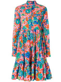 платье с длинными рукавами с цветочным принтом MSGM