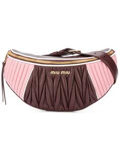 стеганая поясная сумка Miu Miu