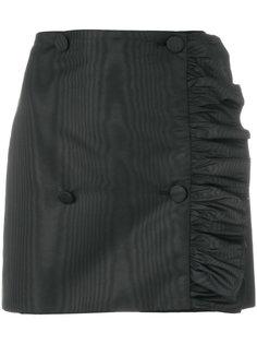 асимметричная мини-юбка с рюшами MSGM