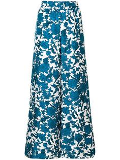 брюки-палаццо Lilium с принтом La Doublej