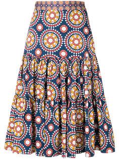 пышная юбка с принтом La Doublej
