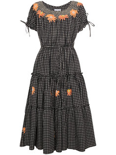 платье в клетку с цветочным принтом  Innika Choo