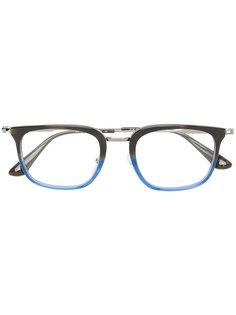 очки в двухцветной оправе прямоугольной формы Prada Eyewear