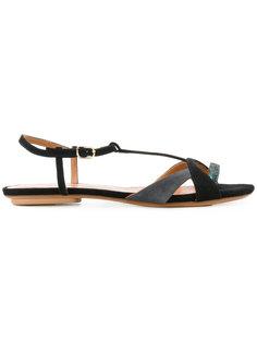 двухцветные сандалии Chie Mihara