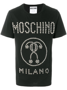футболка с принтом знаков вопроса Moschino