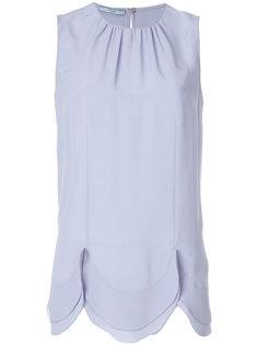 блузка с зазубренным подолом Prada