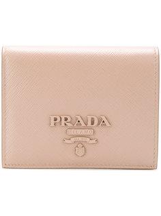 compact logo wallet Prada