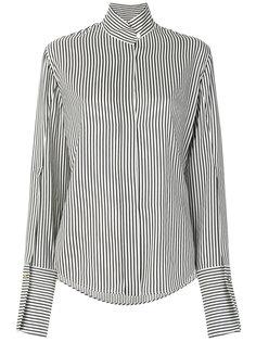 """полосатая рубашка с воротником """"мандарин"""" Petar Petrov"""