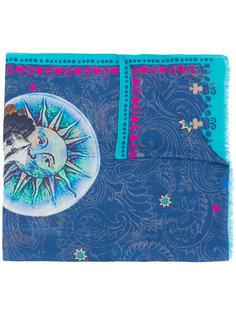 шарф с принтом луны и узором пейсли Etro