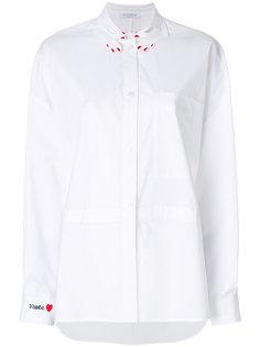 рубашка с вышивкой на воротнике Vivetta