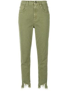 джинсы с потертым подолом Mimi Mih Jeans