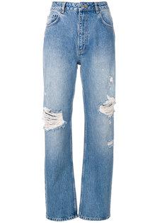джинсы бойфренда Leigh  с рваной отделкой Anine Bing